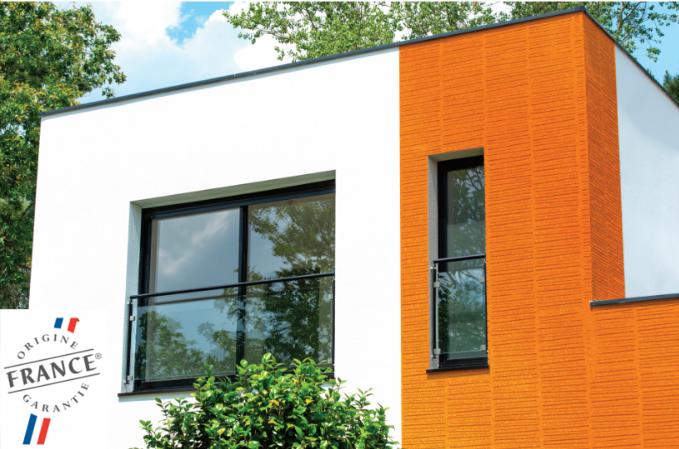 exemple façade avec Weberdeko métal