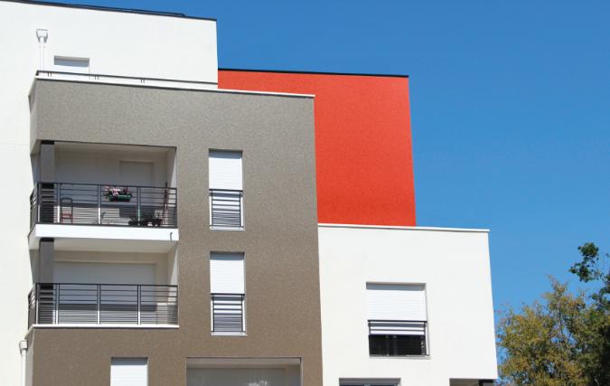 exemple façade rouge Weberdeko métal